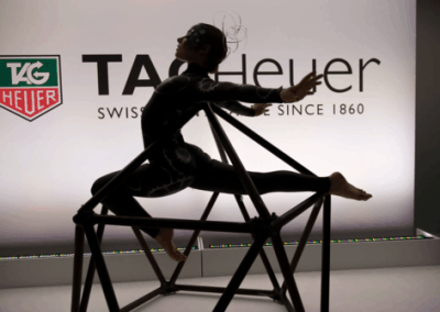 Tag+Heuer+MOMA+contortionist+on+icosahedron