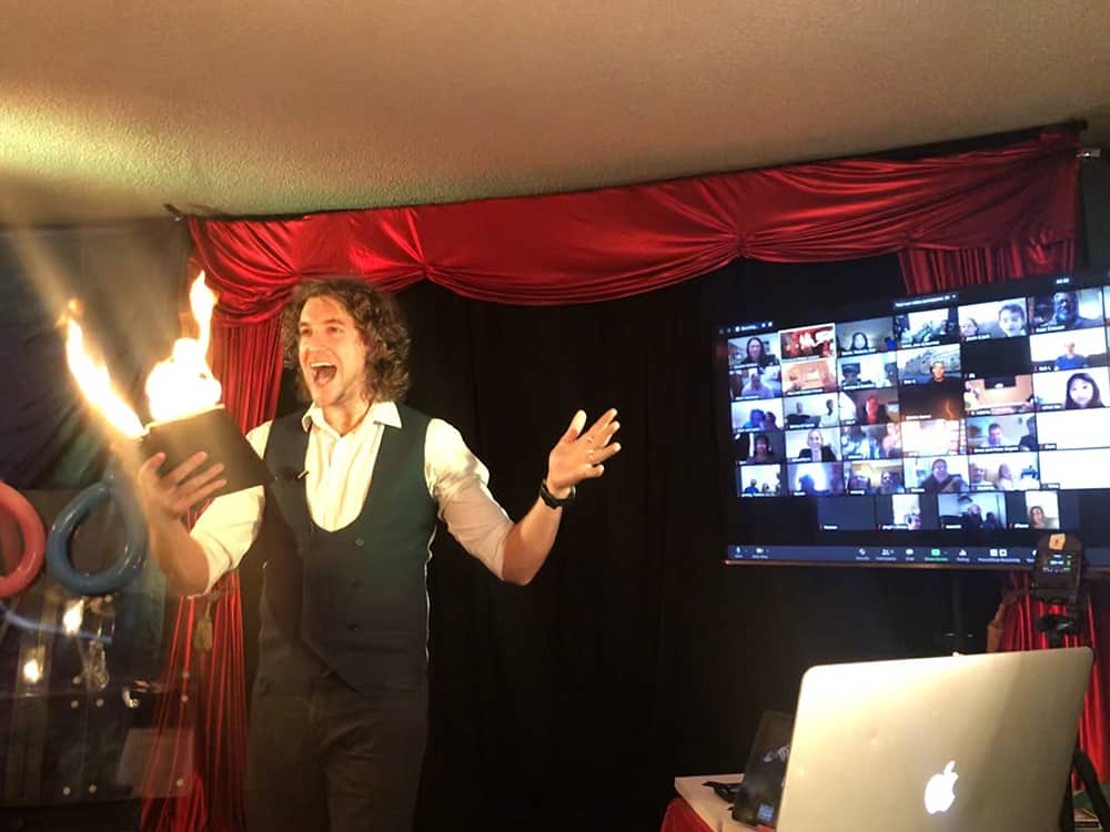 Virtual magic show - Book of Fire