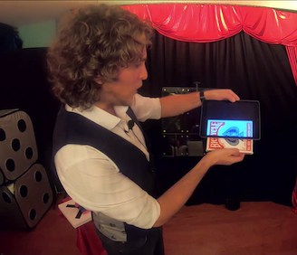 Virtual Magic Show - Deck from iPad