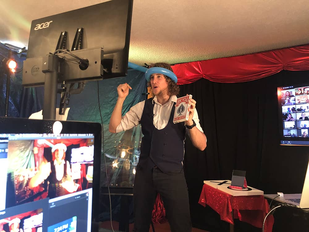 Virtual magic show Illusion San Francisco Mentalism