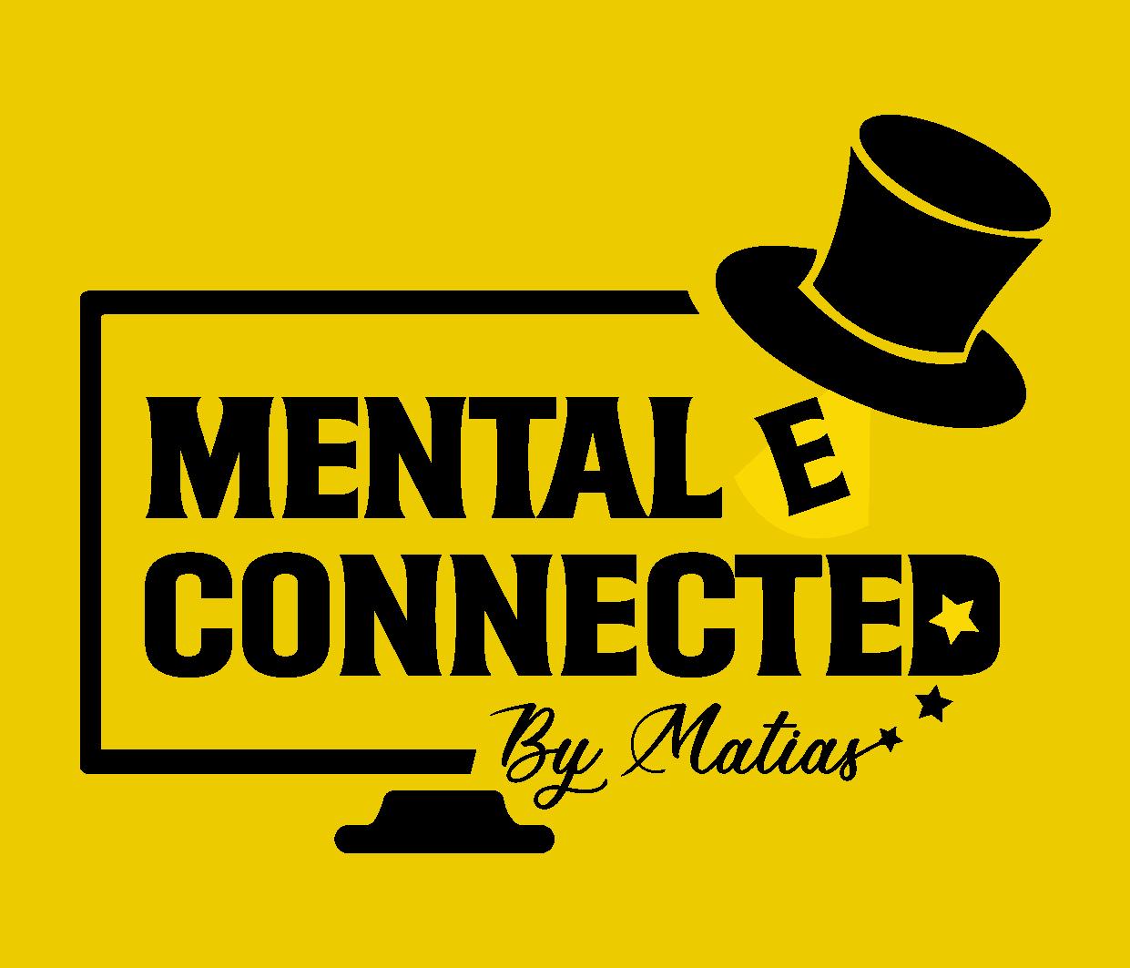 LOGO MENTAL E CONNECTED WHITE